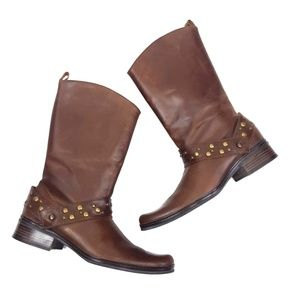 Matisse Brown Moto Boots Size 7